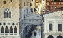 Passerelle des soupirs à Venise photo libre de droits