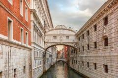Passerelle des soupirs à Venise, Italie Photos stock