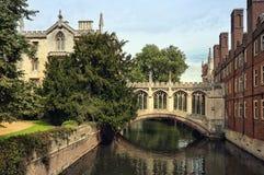 Passerelle des soupirs, Cambridge. Images libres de droits