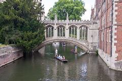 Passerelle des soupirs, Cambridge Photos libres de droits