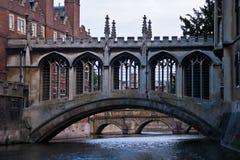 Passerelle des soupirs, Cambridge Images stock