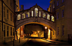 Passerelle des soupirs Oxford Image libre de droits
