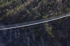 Passerelle Du Drac, hymalayan stylowy footbridge, Monteynard los angeles zdjęcie royalty free