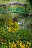 Passerelle du jardin de Monet photos libres de droits
