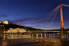 Passerelle du Palais at night Stock Photography