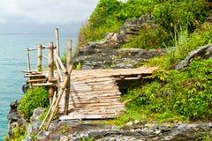 Passerelle en bambou Images libres de droits