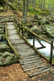 Passerelle en bois Image libre de droits