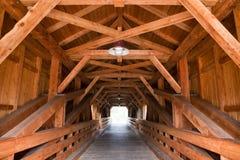 Passerelle en bois Photo libre de droits