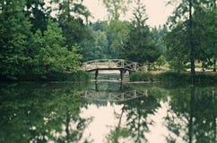 Passerelle en bois Images stock