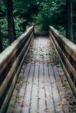 Passerelle en bois Photographie stock libre de droits