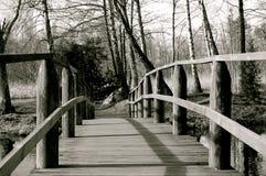 Passerelle en bois Images libres de droits