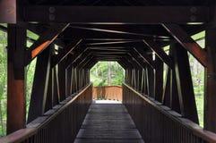 Passerelle en bois couverte image libre de droits
