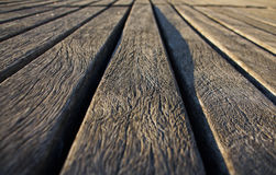 Passerelle en bois de plan rapproché Photos stock
