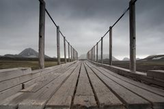 Passerelle en Islande photos libres de droits