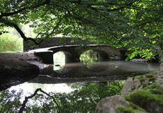 Passerelle en pierre Photographie stock libre de droits