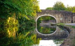Passerelle en pierre au-dessus de canal photographie stock libre de droits