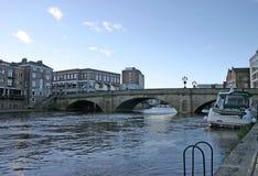 Passerelle en pierre au-dessus du fleuve Ouse à York Photo stock