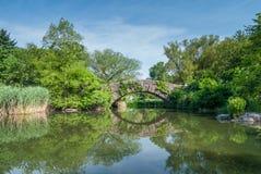 Passerelle en pierre de Central Park Images stock