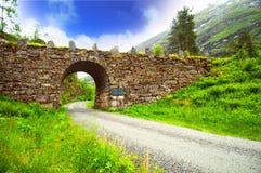 Passerelle en pierre, Norvège photo libre de droits