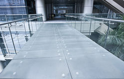 Passerelle en verre Photos stock