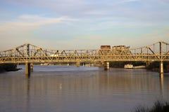 Passerelle entre l'Ohio et le Kentucky Images libres de droits