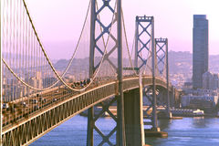 Passerelle et San Francisco de compartiment   Image stock