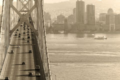 Passerelle et San Francisco de compartiment Photographie stock libre de droits