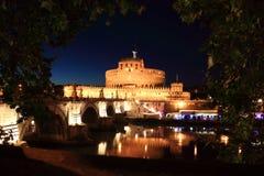 Passerelle et Sant Angelo Castel de Sant Angelo images libres de droits