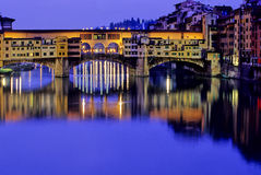 passerelle Florence Italie photographie stock