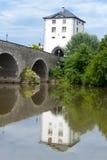 Passerelle historique dans Limbourg Photographie stock