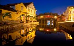 Passerelle japonaise dans Hoi. Le Vietnam Images stock
