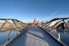 Passerelle Londres de millénaire Image libre de droits