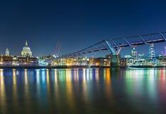 Passerelle Londres de millénaire Photo libre de droits