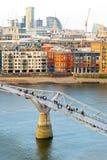 Passerelle Londres de millénium Images libres de droits