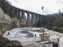 Passerelle, Luxembourg Stock Image