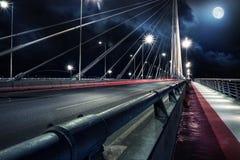 Passerelle neuve de Belgrade Photos libres de droits