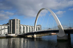 Passerelle neuve Glasgow Photos stock