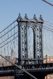 Passerelle New York City de Williamsburg Photos stock