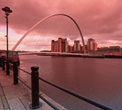 Passerelle Newcastle de millénaire photographie stock