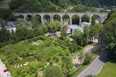 Passerelle Old Bridge, Luxembourg City Royalty Free Stock Photo