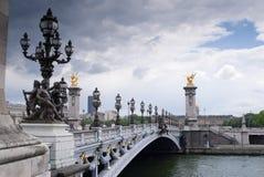 Passerelle-Paris Photographie stock