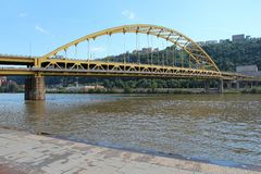passerelle Pittsburgh Images libres de droits