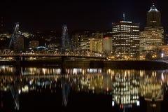 Passerelle Portland du centre Orégon de Hawthorne Image libre de droits
