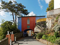 Passerelle, Portmeirion Photo stock