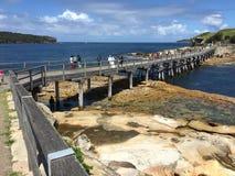 Passerelle pour découvrir l'île Photo libre de droits