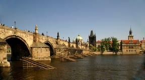 Passerelle Prague de Charles Photo libre de droits