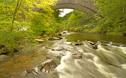 Passerelle rapide de fleuve image stock