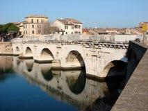 Passerelle romaine à Rimini Images libres de droits
