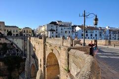 passerelle ronda Espagne de l'Andalousie Photographie stock