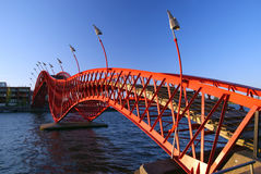Passerelle rouge Photographie stock